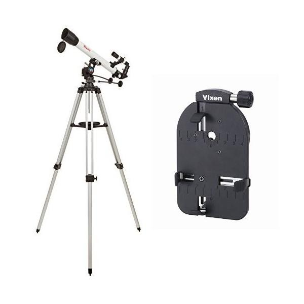 Vixen 天体望遠鏡 経緯台式 スペースアイ600 + 撮影用スマートフォンカメラアダプターセット