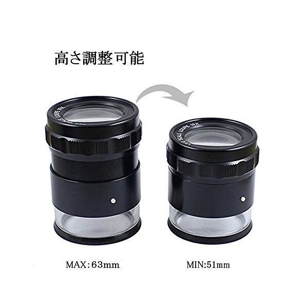 J&T スケールルーペ(目盛り付き)LEDライト付き拡大鏡 最小目盛り0.1mm 焦点調整可能 JT-03-001