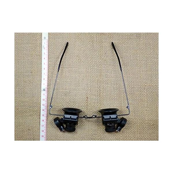 879 PPLS LEDライト付眼鏡型ヘッドルーペ 20倍 拡大鏡