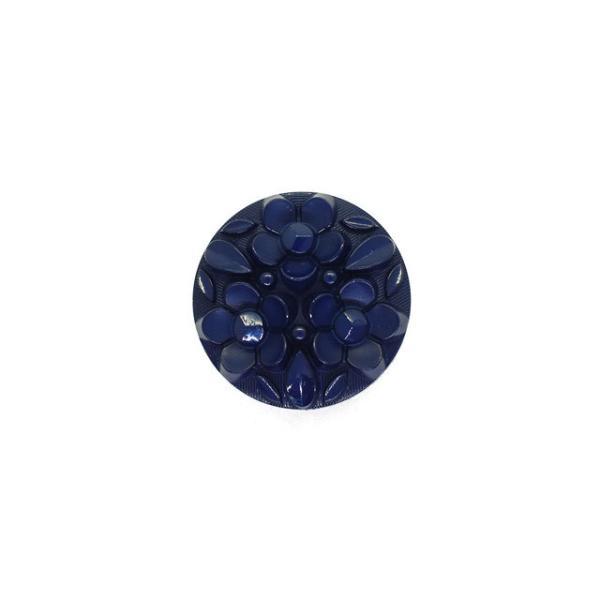 ボタン ナイロンフラワーブーケボタン  (4518N)  13mm N953.ネイビー (H)_6a_