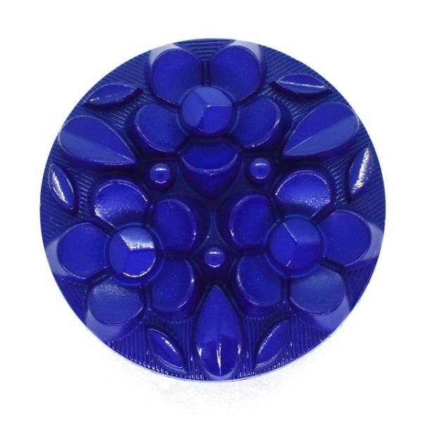 ボタン ナイロンフラワーブーケボタン  (4518N)  28mm N962.ブルー (H)_6a_