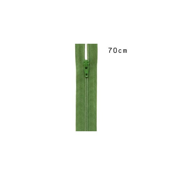 YKK 3コイルファスナー オープン(3CF DA OP) 70cm 528.ソフトグラスグリーン (H)_6b_