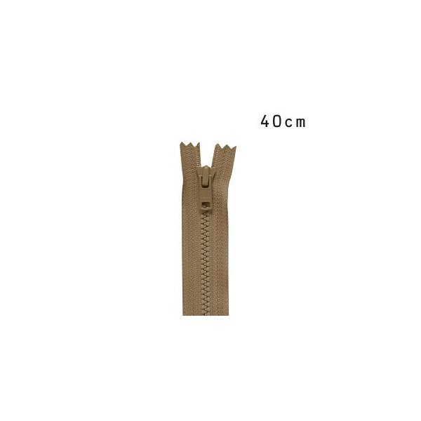 YKK 4ビスロンファスナー 止め(4VS DA C) 40cm 563.ラテブラウン (H)_6b_