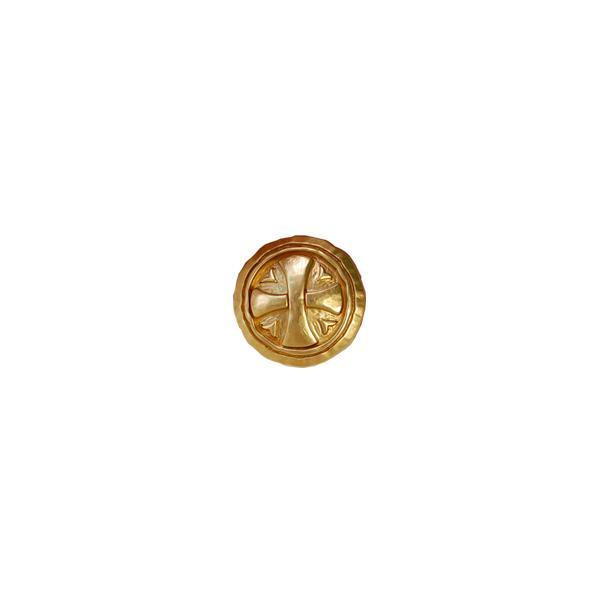 クロス模様メタルボタン(028) 15mm G.ゴールド (H)_6a_