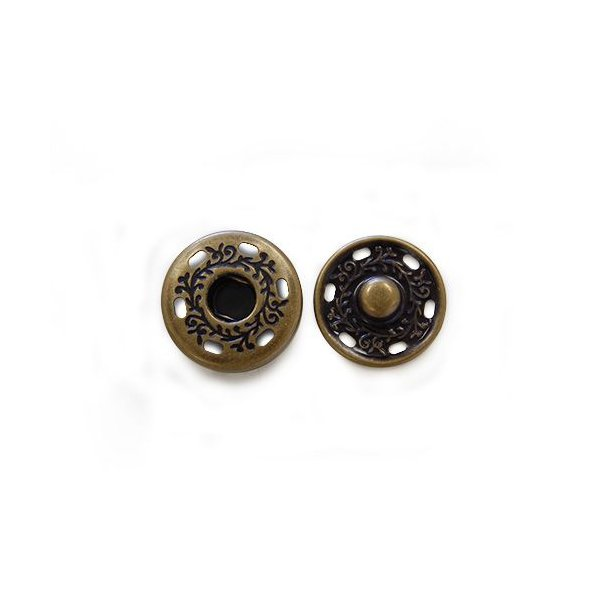 スナップボタン スタンプスナップ 21mm AG.アンティークゴールド 2組入 (H)_6a_