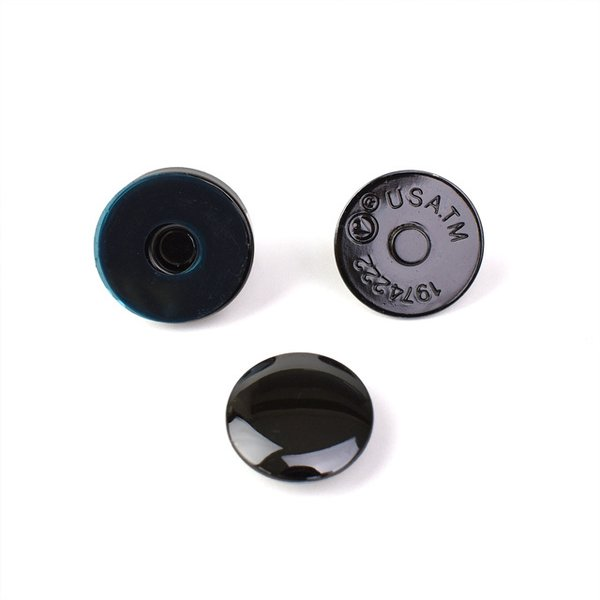 \期間限定10%OFF/  マグネットボタン ハマナカ マグネット付丸型ホック(206-047-2) 黒メタ 14mm (H)_5a_