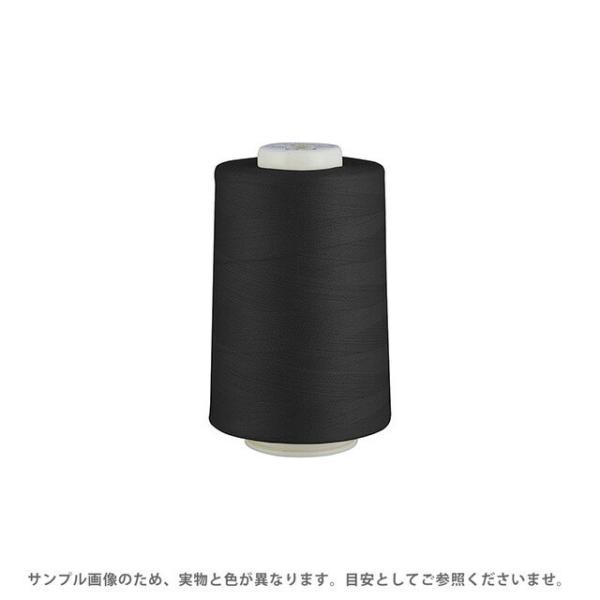 工業用ミシン糸 フジックス キングスパン 90番 5000m巻(4813) 色番402.黒 (H)_6b_