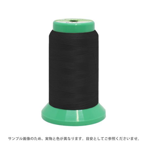 ロックミシン糸 フジックス 巻きロック 100番 1000m巻(F86) 色番402.黒 (H)_6b_