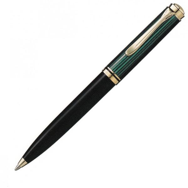 ボールペン) ペリカン スーベレーン K600 緑縞 ボールペン Pelikan ペリカン包装紙