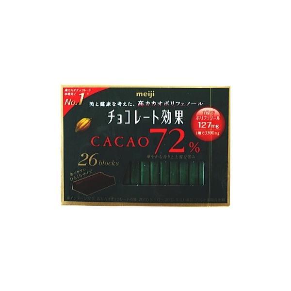 チョコレート効果カカオ72%26枚×6個入り明治