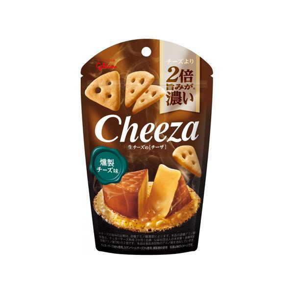 (地域限定送料無料) グリコ 生チーズのチーザ<燻製チーズ味> 14個セット おかしのマーチ (4901005544321sx14k)