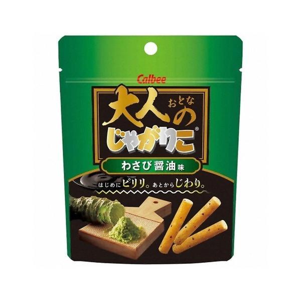 カルビー 大人のじゃがりこわさび醤油味 38g 12コ入り (4901330577643)