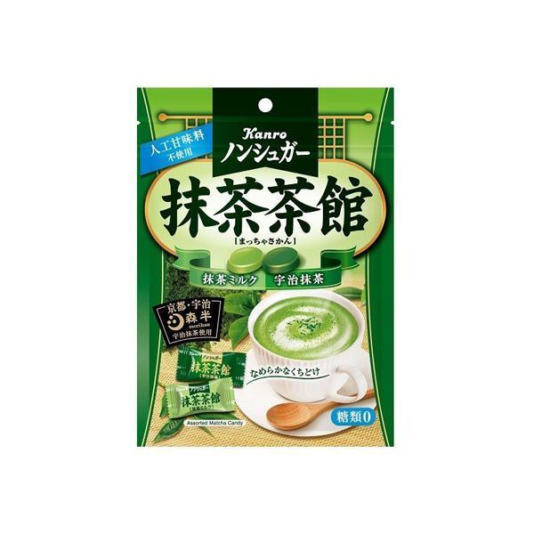 カンロ ノンシュガー抹茶茶館 72g 6コ入り (4901351014776)