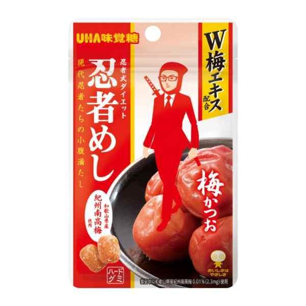 UHA味覚糖 忍者めし 梅かつお味 20g 10コ入り (4902750615007)