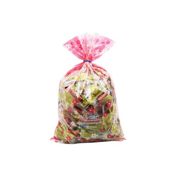 お菓子 詰め合わせ おかしのマーチ おやつカルパス200コセット 花柄ラッピング ささやか感謝柿ピー付き (omtma0824)