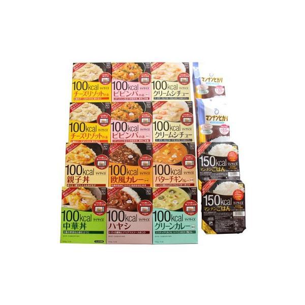 おかしのマーチ 大塚食品 マイサイズ シリーズ(カレー・どんぶり・リゾット) 9種類・12個 マンナンごはん 2種類・4個 (計16個) セット I|okashinomarch