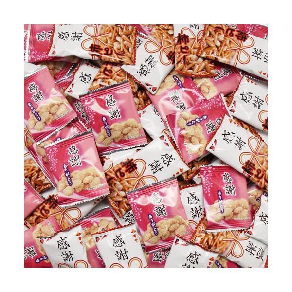 お菓子 詰め合わせ (送料無料)おかしのマーチ 感謝柿ピー(65コ)& 感謝せんべい(65コ) セット (omtma5661k)