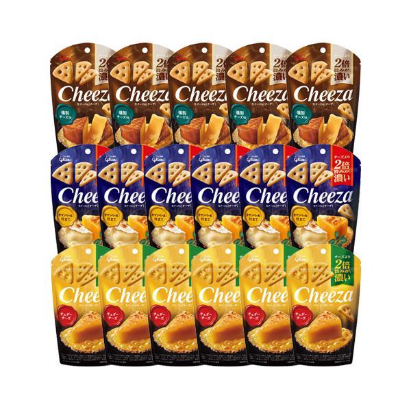 お菓子 詰め合わせ (地域限定送料無料) グリコ 生チーズのチーザ3種セット(3種・計17コ)おかしのマーチ (omtma6817k)