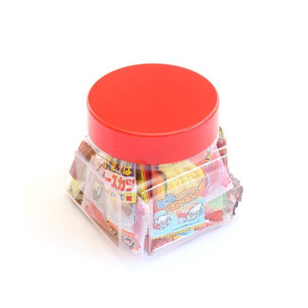 お菓子 詰め合わせ (地域限定送料無料) ちょっとプレゼントに・・・かわいい容器に入った駄菓子セット A【31コ入】 おかしのマーチ (omtma7222k)