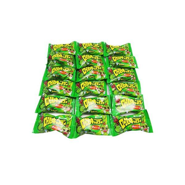 (全国送料無料) やおきん ロールキャンディ 青リンゴ味 18コ入り メール便 (omtmb0400)
