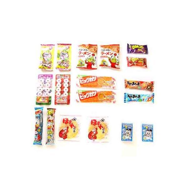 お菓子 詰め合わせ (全国送料無料)おかしのマーチ 遊び心の分け合いっこ うまい棒・ベビースターなどの駄菓子セット (13種・計18コ) メール便 (omtmb0554)