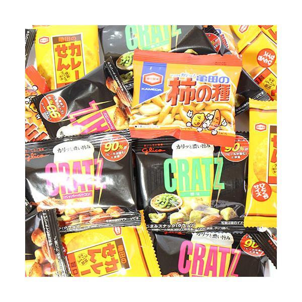 お菓子 詰め合わせ (全国送料無料) おつまみ系グリコとアジカルの小袋スナック菓子セット A(4種・24コ) おかしのマーチ メール便 (omtmb6173)