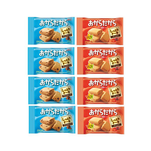 詰め合わせ お菓子(全国送料無料)グリコおからだからメープル4個チョコチップ4個(計8個入り)おかしのマーチ メール便 (omtmb6646)