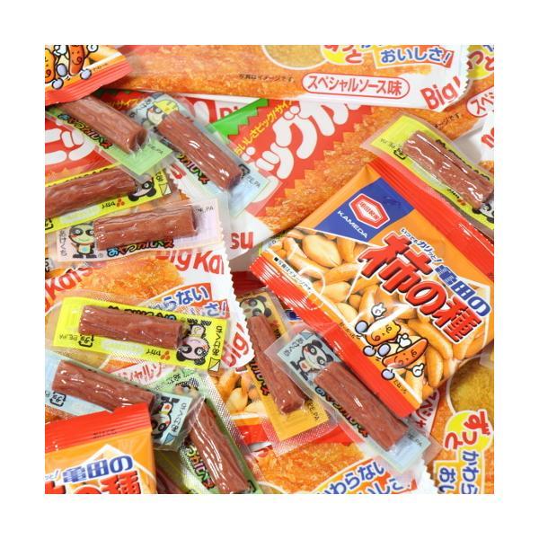 お菓子 詰め合わせ(全国送料無料)おつまみ定番!おやつカルパス(20コ)・柿の種小袋(10コ)・ビッグカツ(10コ)おかしのマーチ メール便(omtmb6726)