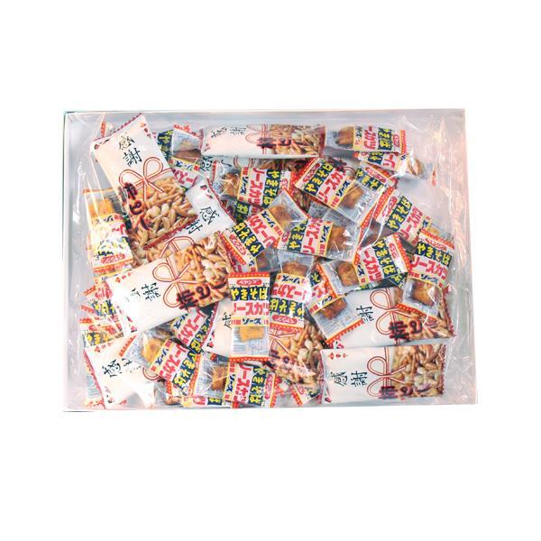 お菓子 詰め合わせ (全国送料無料) 感謝柿ピー10個・ペヤングやきそばソースカツ50個 ギフトセット おかしのマーチ プチギフト メール便 (omtmb7047g)