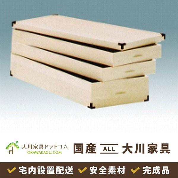 着物収納ケース 桐 たとう紙サイズ 押入着物収納 収納 日本製 大川 レギュラー 3段 KR-9|okawakagu
