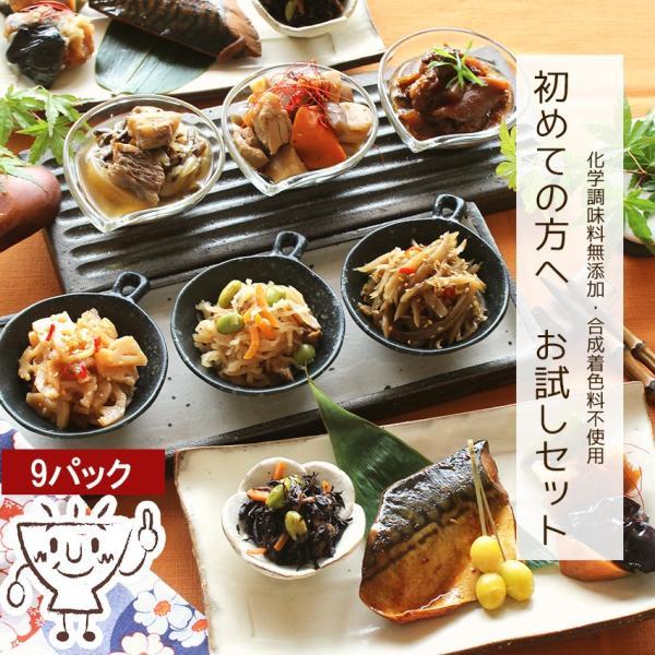 お試しセット 8種類 惣菜 セット (お試し おかず 惣菜 煮物 国産 無添加 ご飯 初めて ポイント 消化  送料無料) okawari