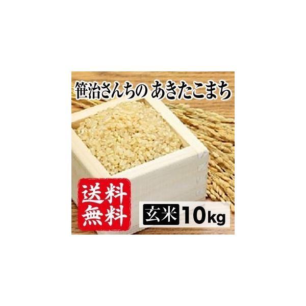 令和元年産生産者特定米 笹治さんちのあきたこまち(玄米)10kg(5kg×2袋) 送料無料(一部地域を除く)
