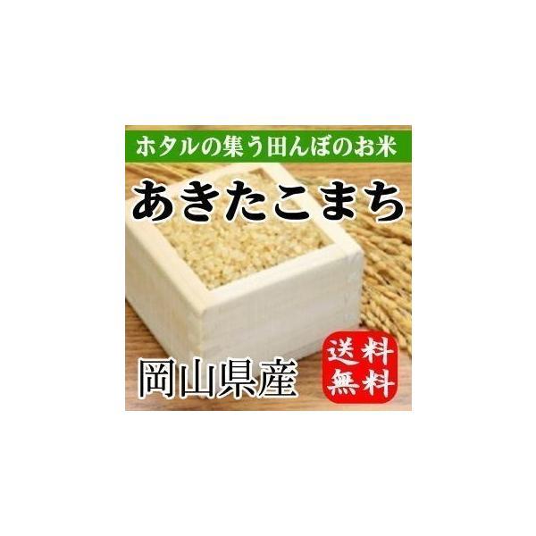 ほたるの集う田んぼのお米 岡山県産あきたこまち(玄米)10kg(5kg×2袋) 送料無料(一部地域を除く)