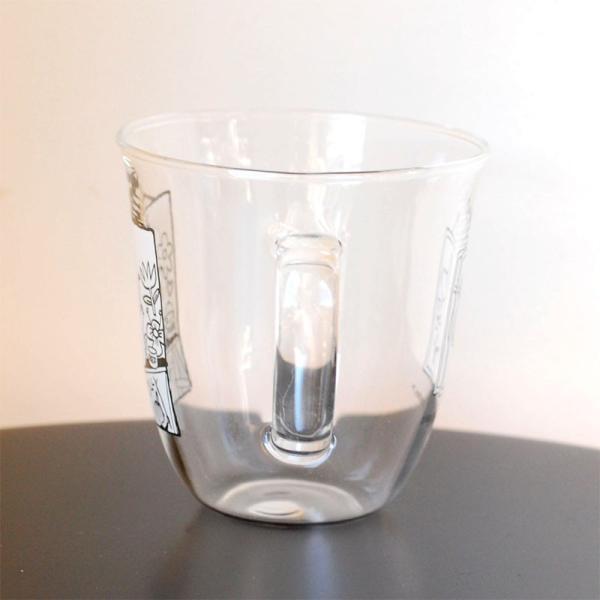 ムーミン モノトーン 耐熱ガラス マグカップ 【MOOMIN】ガラス製コップ グラス タンブラー 食器|okayulabo|04