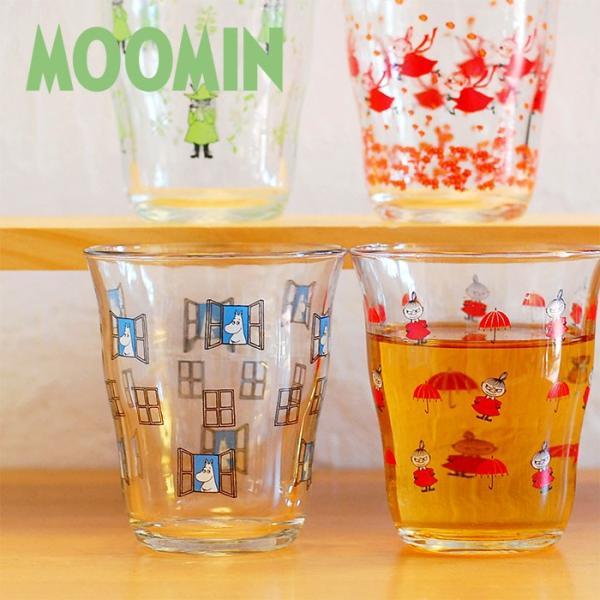 ムーミン グラス ガラス タンブラー 250ml  【MOOMIN】 ガラス製コップ グラス タンブラー 食器、リトルミイ、スナフキン|okayulabo