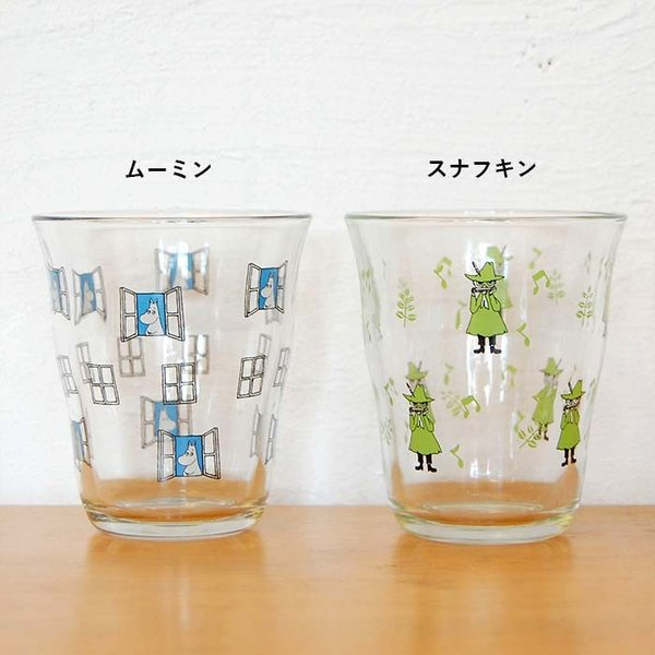 ムーミン グラス ガラス タンブラー 250ml  【MOOMIN】 ガラス製コップ グラス タンブラー 食器、リトルミイ、スナフキン|okayulabo|02