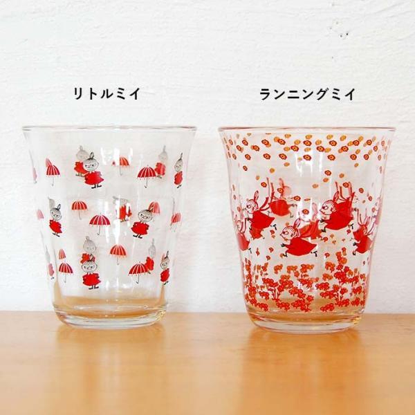 ムーミン グラス ガラス タンブラー 250ml  【MOOMIN】 ガラス製コップ グラス タンブラー 食器、リトルミイ、スナフキン|okayulabo|03