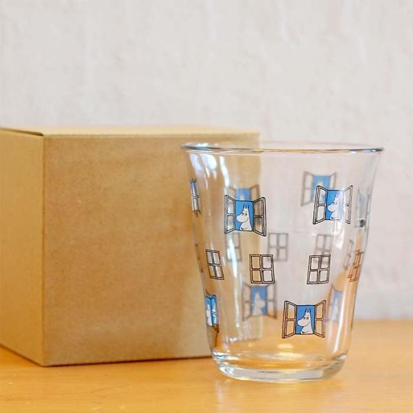 ムーミン グラス ガラス タンブラー 250ml  【MOOMIN】 ガラス製コップ グラス タンブラー 食器、リトルミイ、スナフキン|okayulabo|04