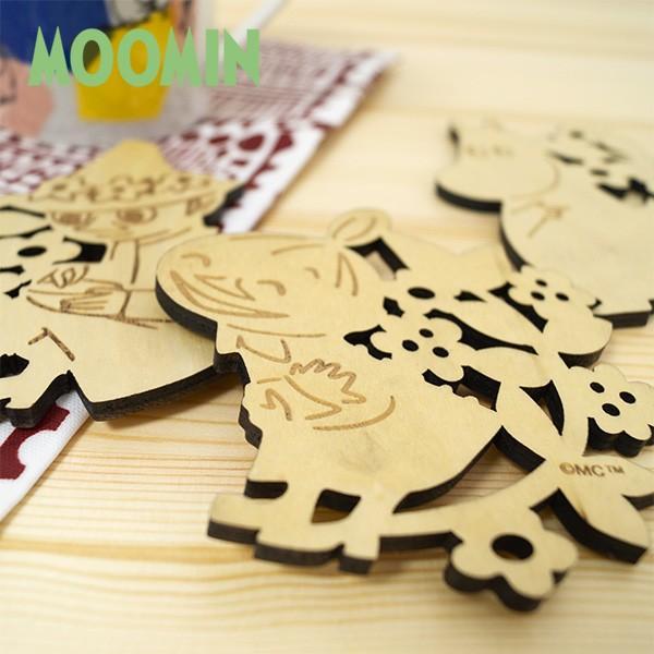ムーミン 木製コースター 北欧おしゃれな木製コースター【MOOMIN】マグカップ/コップ/グラス/リトルミイ/ミイ/スナフキン 祝い 誕生日 贈り物 退職 結婚 記念|okayulabo