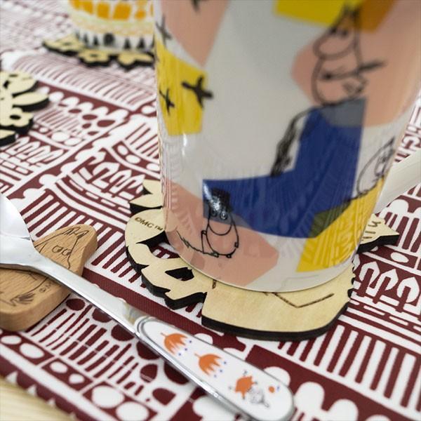 ムーミン 木製コースター 北欧おしゃれな木製コースター【MOOMIN】マグカップ/コップ/グラス/リトルミイ/ミイ/スナフキン 祝い 誕生日 贈り物 退職 結婚 記念|okayulabo|04