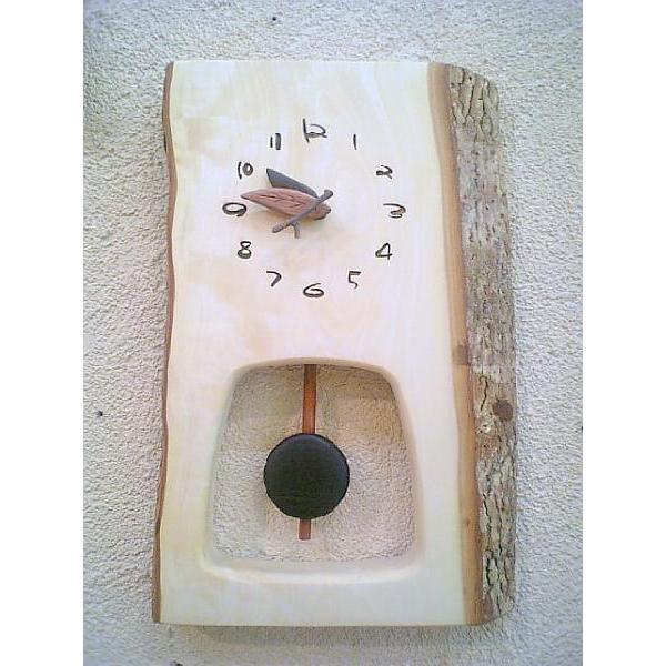 【送料・ラッピA無料】森の振り子時計 栃(トチ)001世界にひとつ!【新築祝】