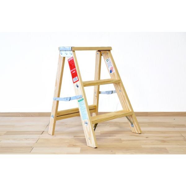 木製脚立 ミシガンラダー LIGHT DUTY Sサイズ (2フィート) 脚立 おしゃれ|okazaki-seizai|02