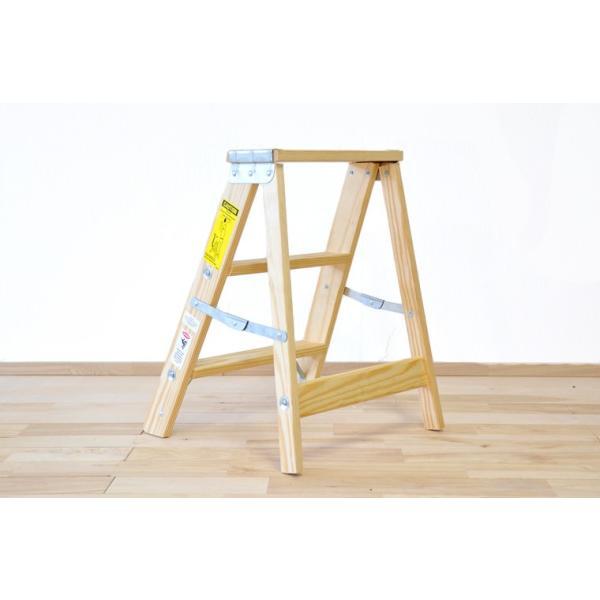 木製脚立 ミシガンラダー LIGHT DUTY Sサイズ (2フィート) 脚立 おしゃれ|okazaki-seizai|03