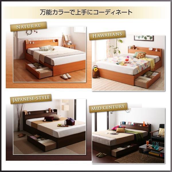 コンセント付き収納ベッド Ever エヴァー スタンダードボンネルコイルマットレス付き セミダブル okitatami 08