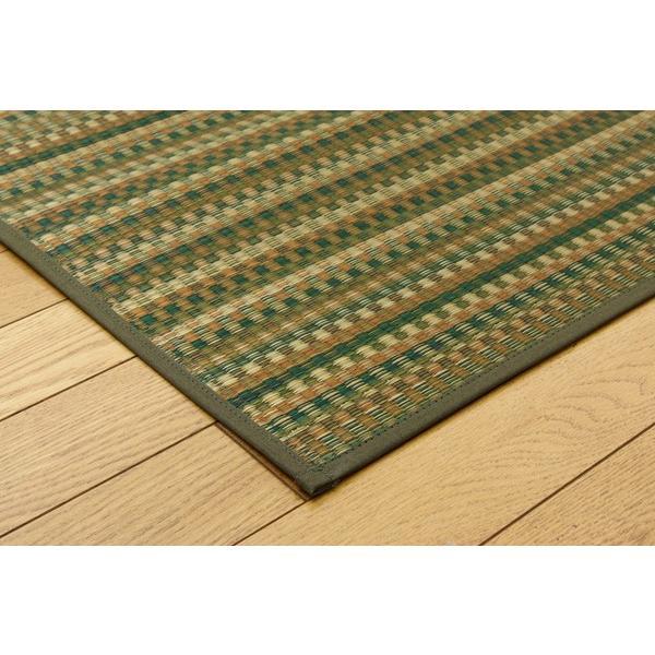 い草 ラグ カーペット 4畳 国産 Fバリアス グリーン 約240×240cm 裏:ウレタン|okitatami