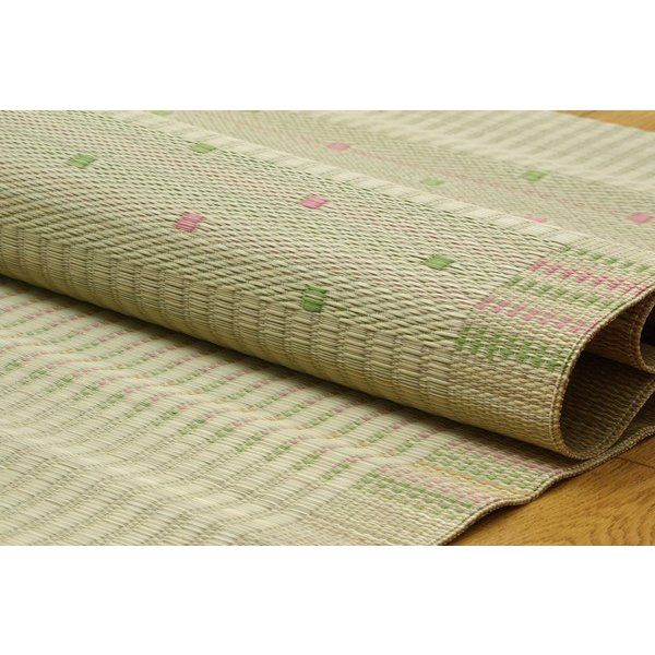 国産 い草のシーツ(寝ござ  球磨川 ローズ シングル約88×180cm(熊本県八代産い草使用|okitatami
