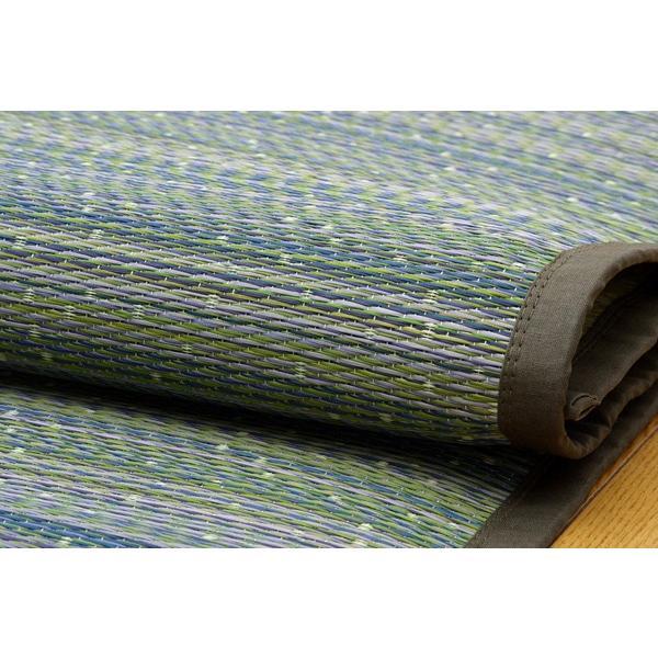 国産 い草ラグ い草たっぷり グリーン 約133×200cm(中材:あま織い草2層|okitatami