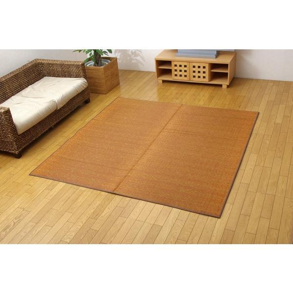 国産 三重織 い草ラグカーペット Fモカ ブラウン 約191×191cm(裏:ウレタン|okitatami