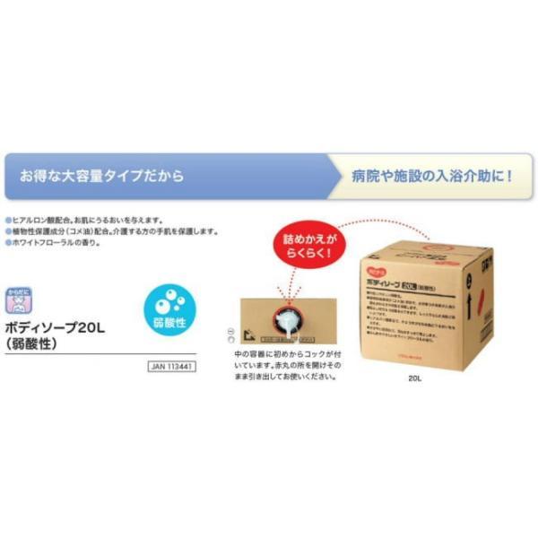 ハビナース 弱酸性ボディソープ 20L 大容量業務用 ピジョンタヒラ|okitatami|02