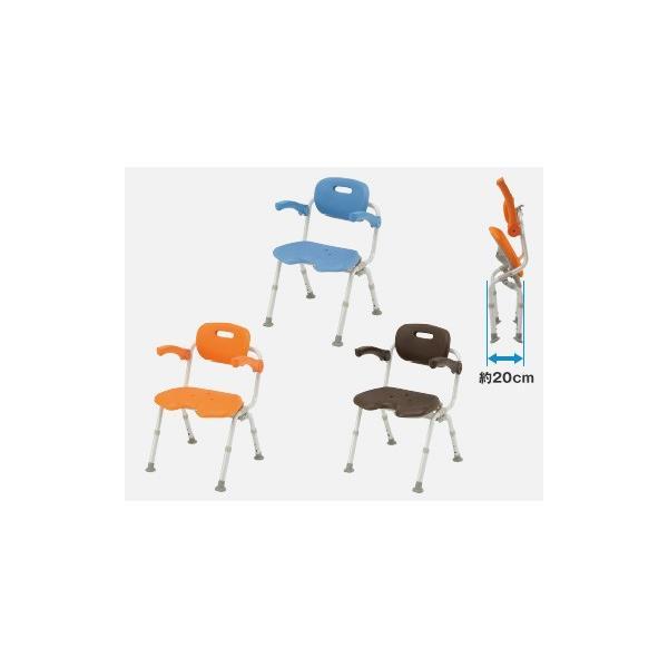 風呂椅子 バスチェア シャワーベンチ パナソニックシャワーチェア ユクリア ワイドSPワンタッチU型おりたたみN PN-L41521 背もたれ・ひじかけタイプ|okitatami